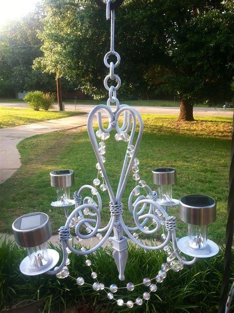 backyard elegance   outdoor chandelier
