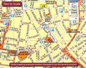 Palma de Mallorca Michelin City Map Stanfords