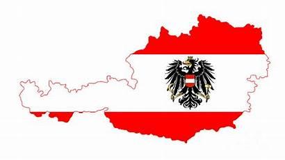 Flag Map Austrian Austria Bigalbaloo Isolated Mappa