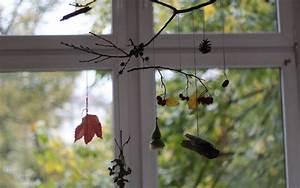 Aus Blättern Basteln : wir sammeln und basteln herbstliches mobile mit ~ Lizthompson.info Haus und Dekorationen