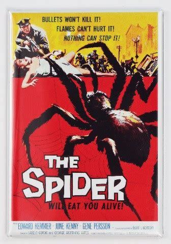 spider  poster fridge magnet  sci fi monster