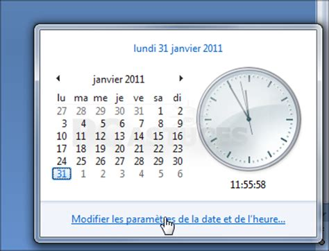 horloge de bureau windows comment afficher l horloge sur le bureau windows 7