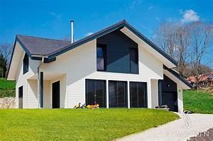 maison bardage bois et pierre xr48 jornalagora With couleur facade maison contemporaine 10 maison en bois maison ossature bois bardage douglas