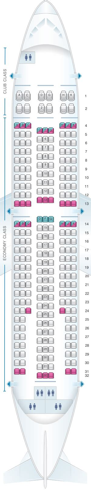 air transat selection de siege plan de cabine air transat airbus a310 300 seatmaestro fr