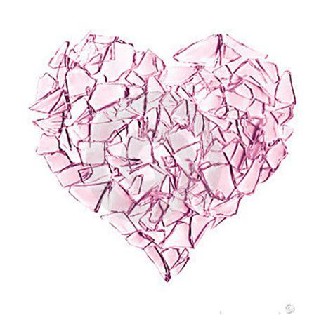 broken glass heart tattoos