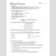 Quantum Number Practice Worksheet  Key  Name M Ev Date Quantum Number Practice Worksheet 1