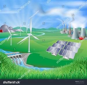 Different Power Generation Nuclear Fossil Fuel Stock ...