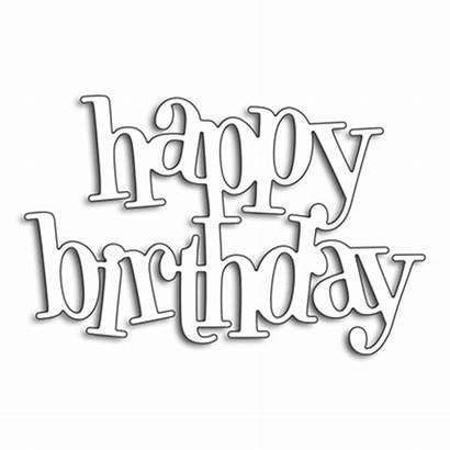 Birthday Happy Cut Word Dies Stencils Cutting