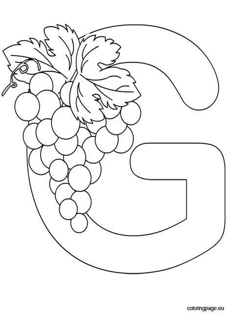 Coloring Letter G by Alphabet Letter G Coloring Page