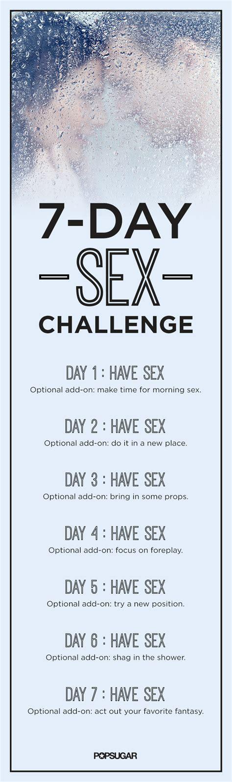 7 Day Sex Challenge Popsugar Love And Sex