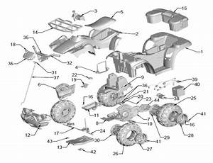 Power Wheels Kawasaki Brute Force Parts
