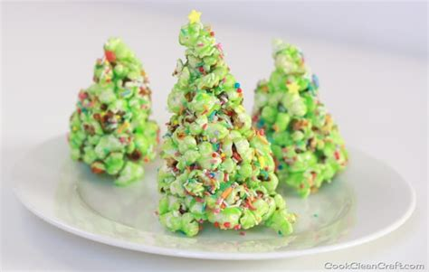 popcorn christmas tree tutorial cook clean craft