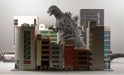 Scale Buildings Godzilla Plus Stomping Building 1954