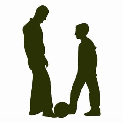 Father Son Playing Silhouette Dad Svg Transparent