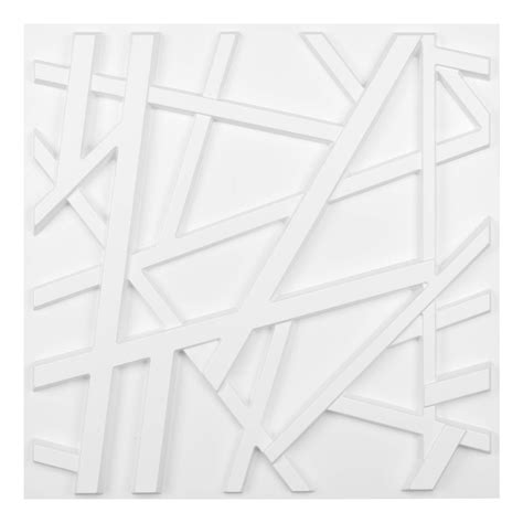 Post your classified ad for free in various categories like mobiles, tablets, cars, bikes, laptops, electronics, birds, houses, furniture, clothes, dresses for sale in pakistan. Matt White PVC 3D Wall Panel Geometric Crossing Lines Cover 32 Sqft, for Residential and ...