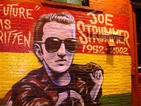 Joe Strummer Mural by Joe Strummer Mural Graffiti East Manhattan New