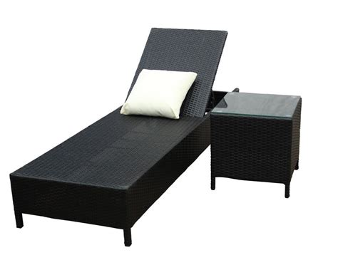Bed Pillow Table by Wicker Rattan Black Sun Bed Pillow Side Table Glass Top