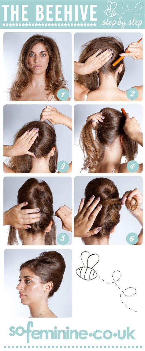 How To Hair by How To Do A Beehive Hairstyle Step By Step Beehive