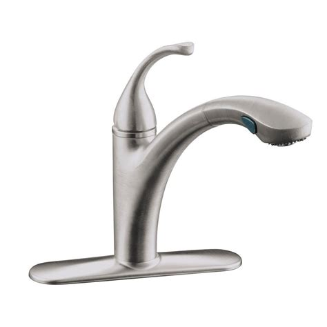 single handle kitchen faucet with pull out sprayer kohler forte single handle pull out sprayer kitchen faucet