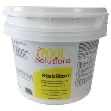 pool solutions swimming pool lb chlorine stabilizer