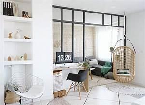 deco cuisine style atelier separation avec le salon With couleur taupe clair peinture 5 quelles couleurs pour un interieur feminin mais pas trop