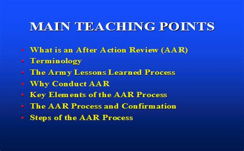 after action review the after review process armystudyguide
