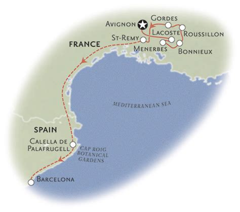 Provence Costa Brava Walking Tours Backroads