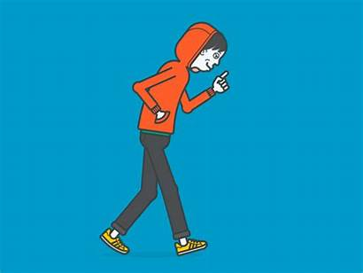 Walking Guy Hoodie Walks Walk Gifs Take
