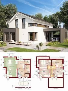 Modernes Haus Grundriss : modernes design haus mit satteldach architektur erker anbau carport einfamilienhaus modern ~ Orissabook.com Haus und Dekorationen