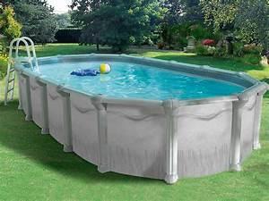 Piscine En Acier : piscine acier en kit ovale soprano x x m ~ Melissatoandfro.com Idées de Décoration