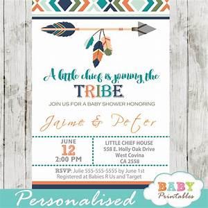 Tribal Baby Shower Invitation for Boys, Boho Arrow – D242