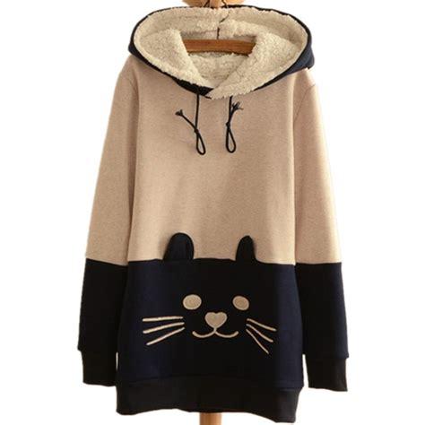 cat hooded jacket japanese mori kawaii cat hoodie