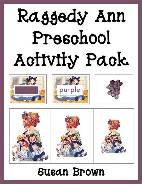 preschool 640 | Raggedy Ann Preschool Activity Pack cover 2 Currclick