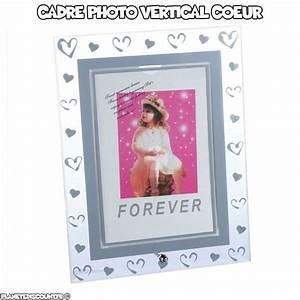 Photo Avec Cadre : cadre photo verre avec gravure coeur cadre photo vertical pas cher ~ Teatrodelosmanantiales.com Idées de Décoration