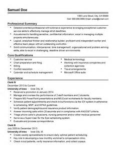 City Clerk Resume by Professional Clerk Iv Templates To Showcase Your Talent Myperfectresume