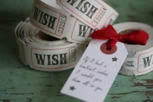 quot a hundred wishes quot ticket rolls with ribbon tie chalk farm