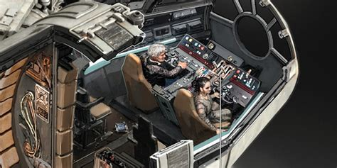 Han Freighter Diagram by Wars Millennium Falcon Illustrations Business Insider