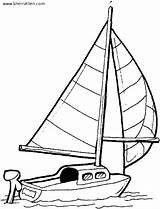 Coloring Transportation Pages Sailboat Sherriallen sketch template