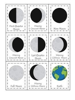 science phases of the moon three part matching preschool 612 | original 1434538 1
