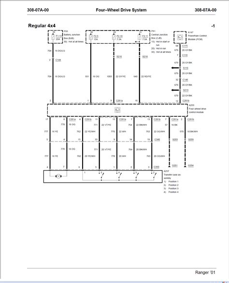 2001 Ford Ranger 4x4 Wiring Diagram by I A 2001 Ford Ranger 4x4 The 4x4 Transfer Switch On