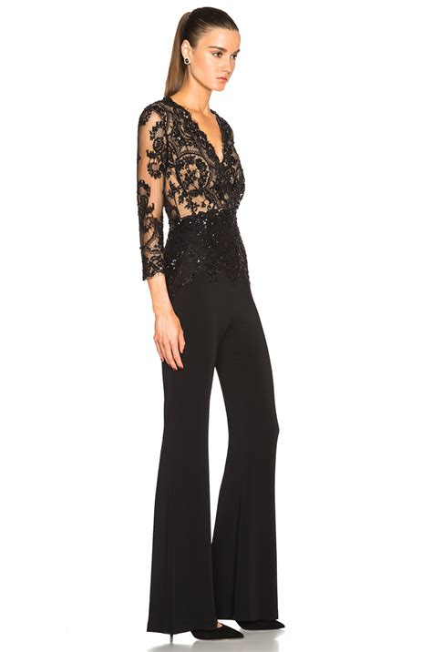 black s jumpsuit zuhair murad jumpsuit in black lyst