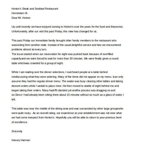 complaint letter  poor service scrumps