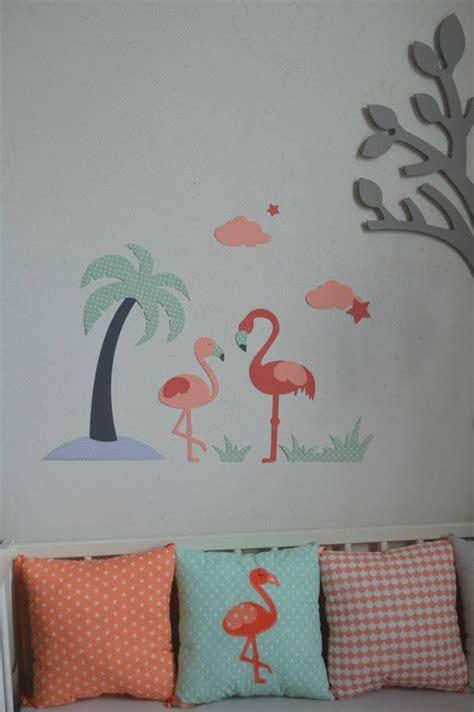 chambre flamant décoration chambre bébé flamant palmier étoiles