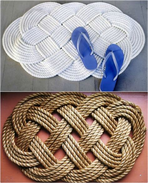 Braided Doormat by 21 Beautifully Stylish Rope Projects That Will Beautify