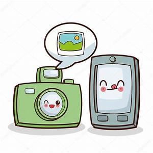 Kawaii dibujos animados Medios de Comunicación Social y tecnología Gráfico vectorial Archivo