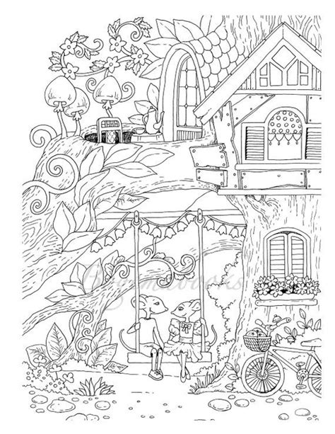 nice  town  adult coloring book coloring pages