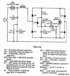 High Intensity Lamp Dimmer Or Fan Control
