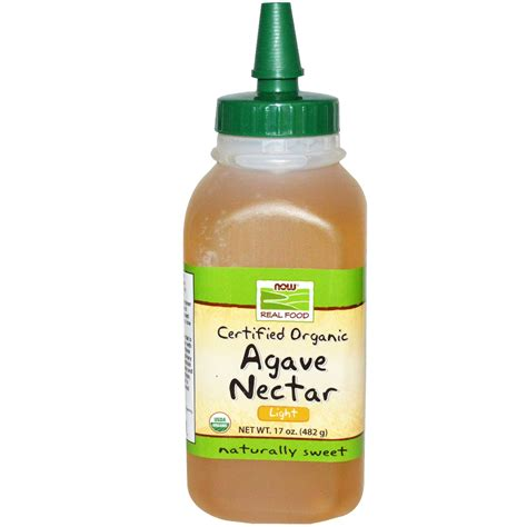 now foods certified organic agave nectar light 17 oz