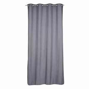 Rideau Thermique été : rideau thermique et 140 x h240cm fresh gris rideau ~ Premium-room.com Idées de Décoration