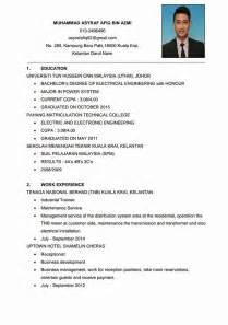 contoh surat resume bahasa inggeris sle resume yang terbaik ebook database